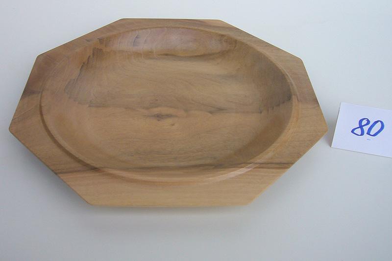 8-eckige Schale | Holzsorte: Nußbaum