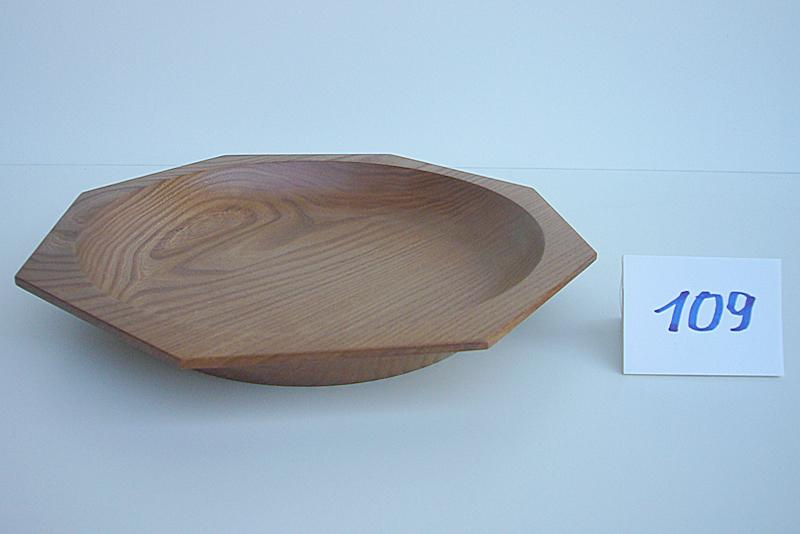 8-eckige Schale | Holzsorte: Ulme dunkel